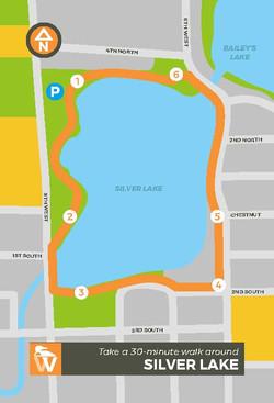 Walking Map_Silver Lake Front