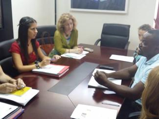 Reunión con la Vicerrectora de Investigación, Postgrado y Relaciones Internacionales de la Universid