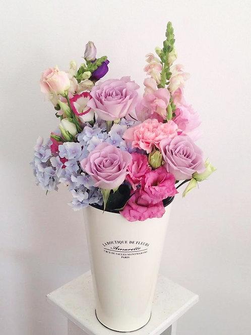 vintage vase and flowers