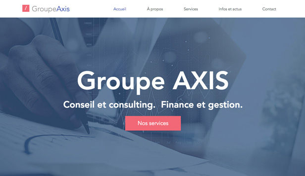 Consulting et Coaching website templates – Cabinet finance et conseil