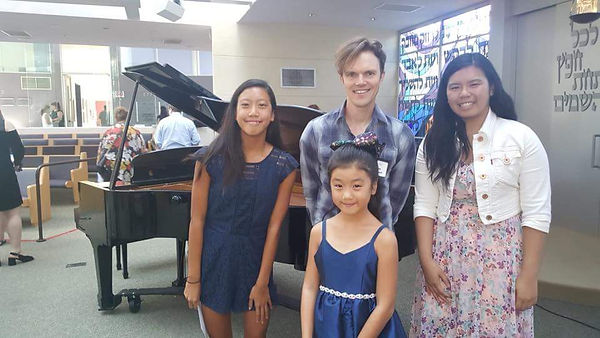 Three sisters after summer recital