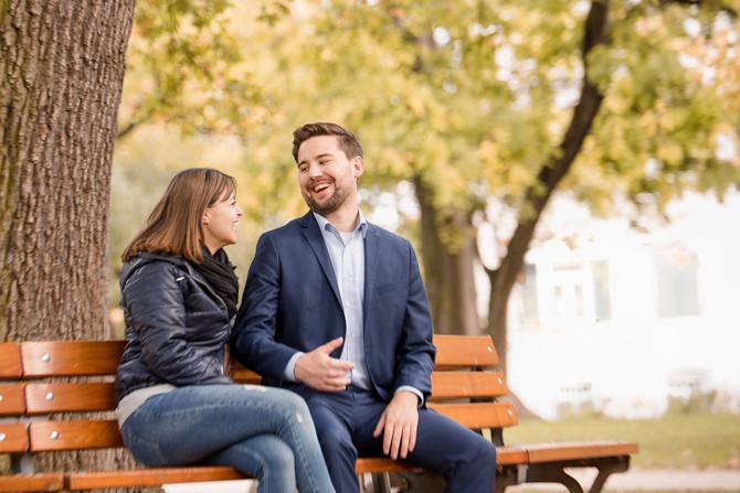 tolles herbstliches Engagementshooting mit Annemone und Johannes in Frankfurt