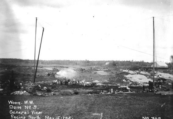 Construction image facing north