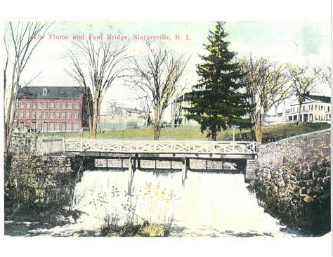 Flume and footbridge - Slatersville