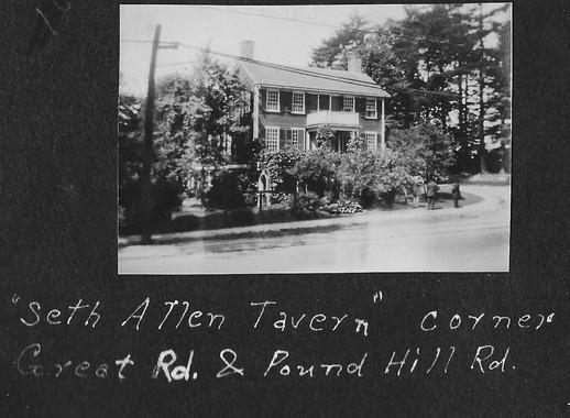 P0024 Seth Allen Tavern Pound Hill and Great Rd - V Hutton Album - BW.jpg