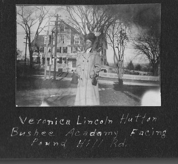 P0011 Veronica Hutton in front of Bushee Academy - V Hutton Album - BW.jpg