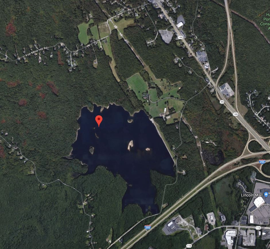 Arial view of Woonsocket Reservoir #3