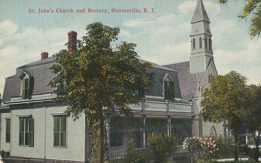 St Johns Church and Rectory - Slatersville