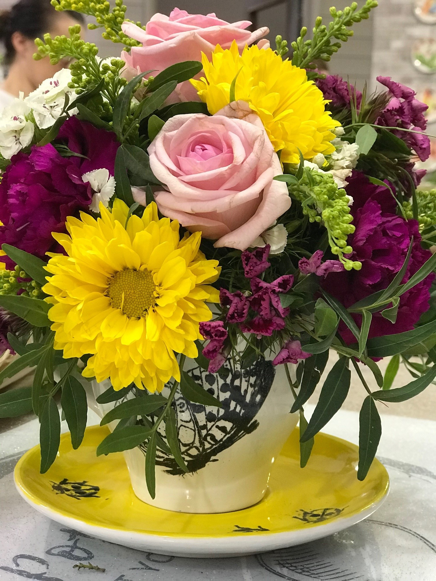Workshop: teacup and flowers 21/9 & 28/9