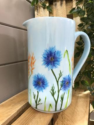 Corn Flower bisque on a jug