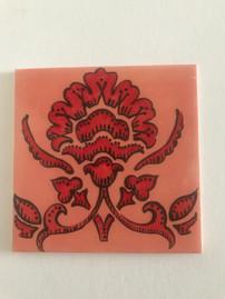 Tile painting at Pot en Ciel