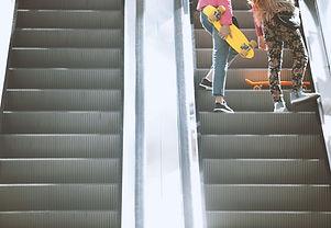 Bis der Rolltreppe