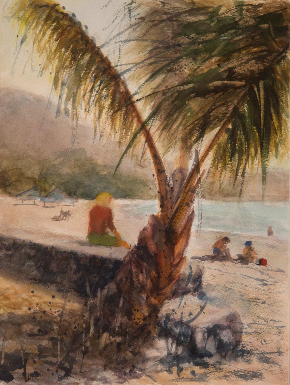 Meditating in Hawaii