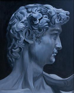 David after Michelangelo's sculpture