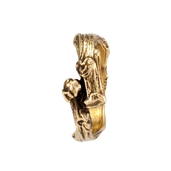 Бронзовое кольцо Ветка