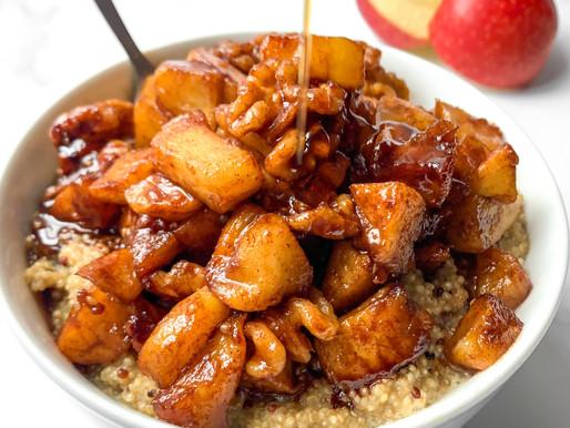 Cinnamon apple quinoa bowl
