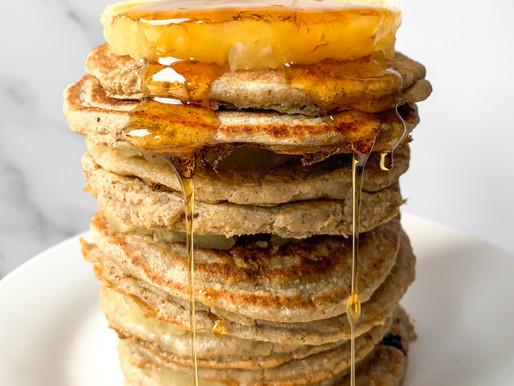 Pineapple and banana pancakes