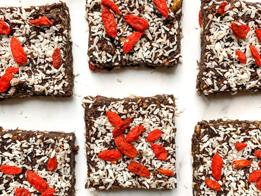 Cashew date squares
