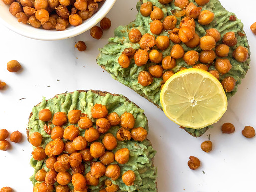 Roasted chickpea and avocado toast