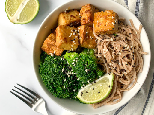 Maple ginger tofu