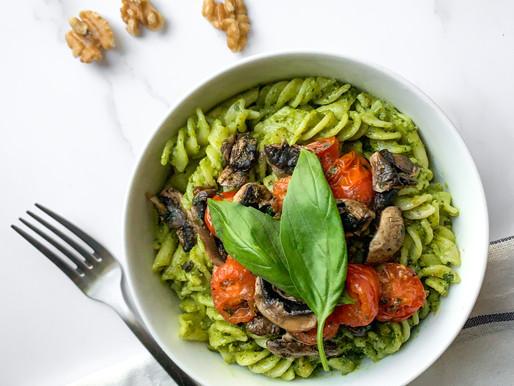 Basil and spinach pesto