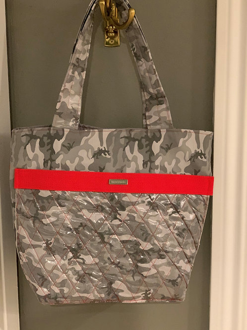 Quilted Grey Camou Tote