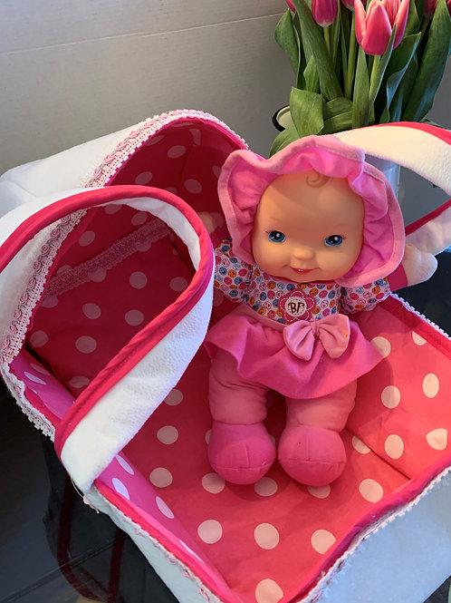 Large Soft Baby Doll Bassinet