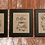 Thumbnail: Embroidered Vintage Farm Stand Signs on Grain Cloth with black frame