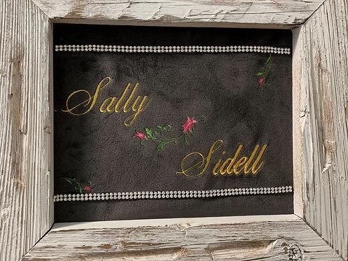 Personalized Wall Art with Swarovski crystal embellishments
