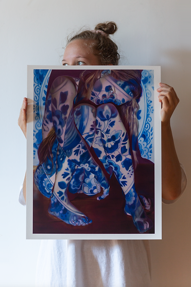 I don't feel blue, I feel Delft blue - limited edition print