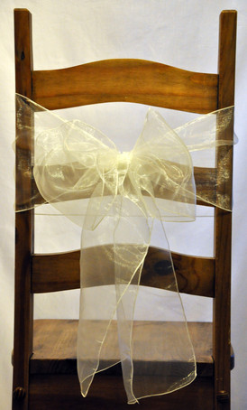 Organza chair sash