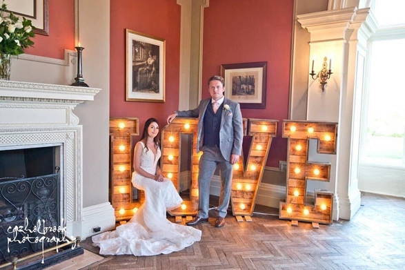 4ft Light up rustic LOVE letters