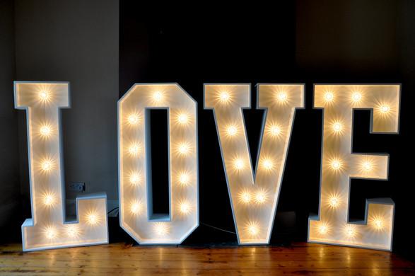 4ft White light up LOVE letters