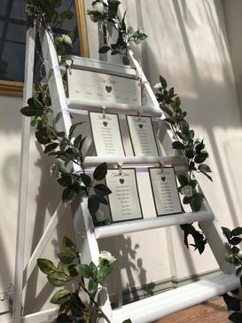 White decorative ladders