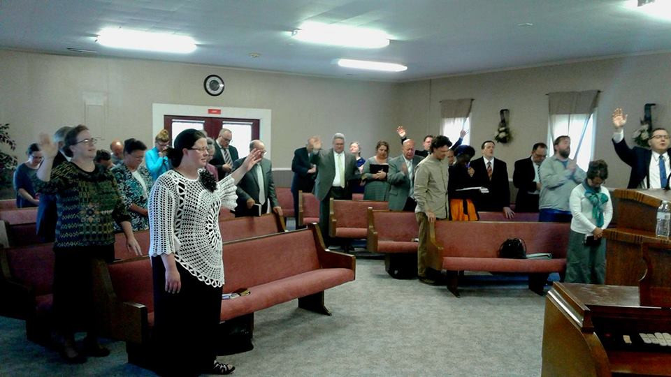 """The dedication service at the """"old church."""" - October 2017"""