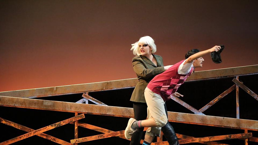 Pennywise in Urinetown at MiraCosta Theatre