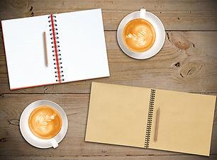 Open Red Notebook, Open Vintage Sketch B