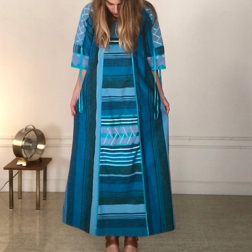 Josepha Turquoise Stripe Dress