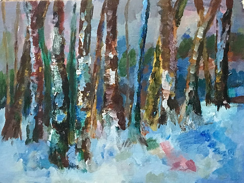 Original Oil Painting: Into the Woods