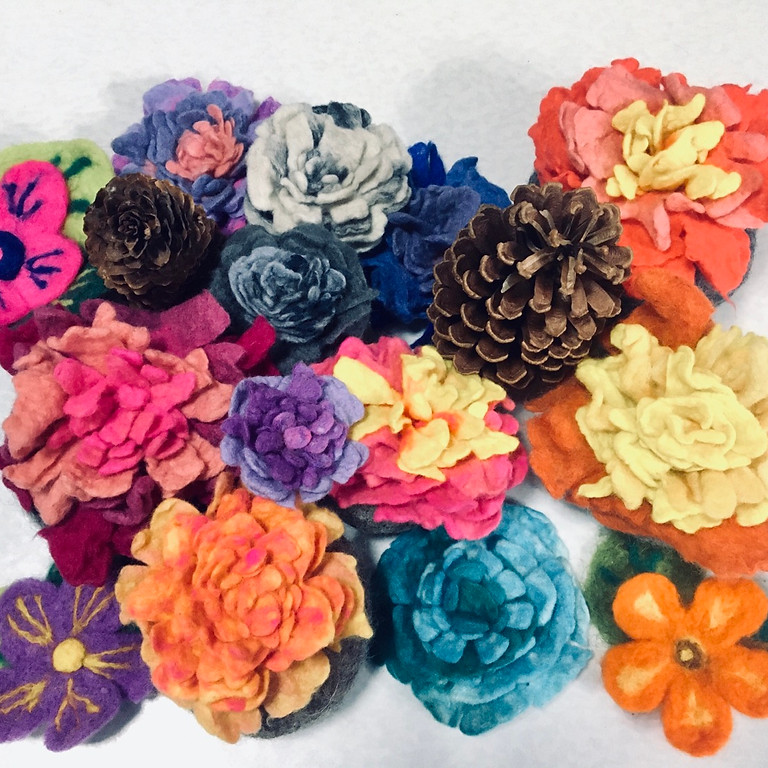 Art as Therapy Series: Nuno Felting and Wet Felting Flower Making Workshop