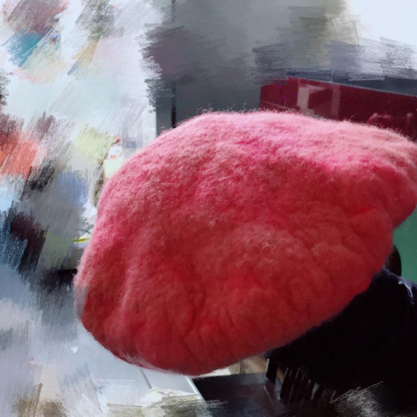 Wet Felting Workshop (Beret Hat)