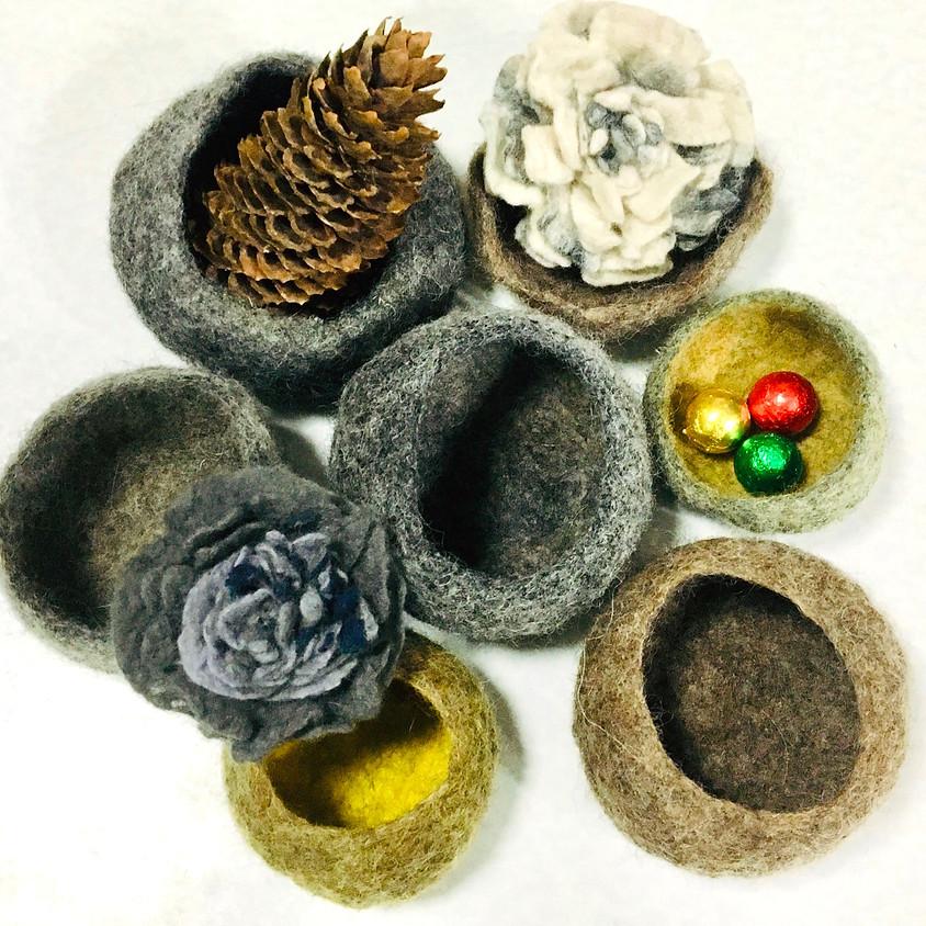 冬季藝術與療癒工作坊:羊毛氈容器製作工作坊