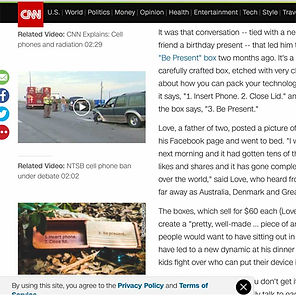 Be Present Box CNN Article