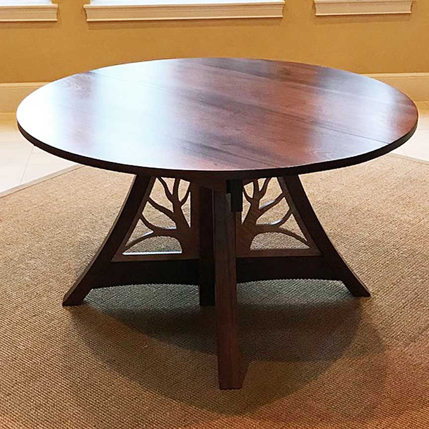 Giving Table in Mahogany and Maple