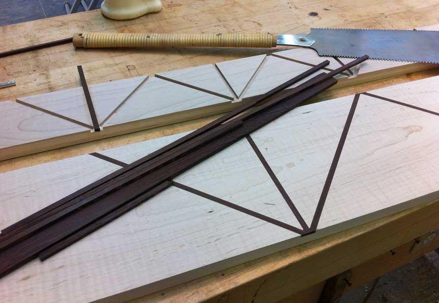 Creating the wenge inlay