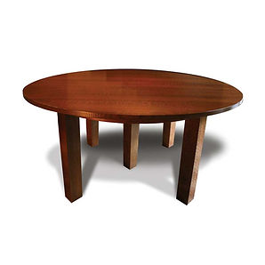 Solid White Oak Craftsman Extension Dining Table in the Stickley Style