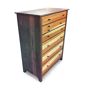 Longleaf Pine and Walnut Dresser