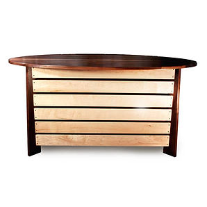 Coffee Bean Buffet Made From Solid Walnut and Maple