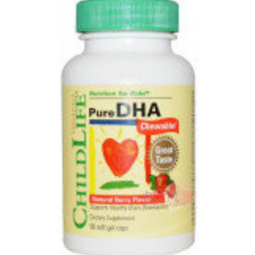 ChildLife - 童年時光 兒童DHA 可咀嚼軟膠囊天然漿果味 90粒 (平行進口貨)