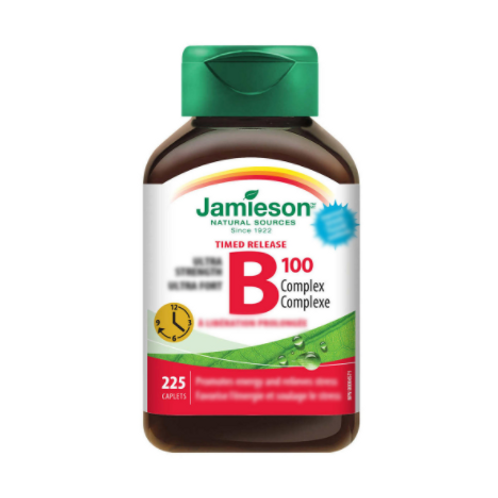 Jamieson - 健美生維生素 B100 複合 B群 (定時釋放) - 225粒(平行進口貨)
